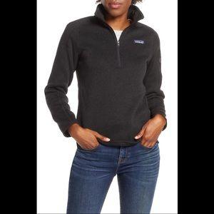 Patagonia Better Sweater 1/4 zip black large GUC!
